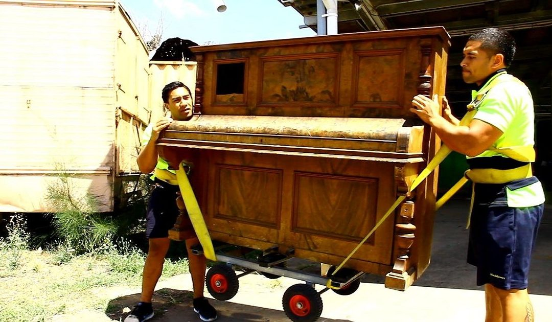 piano moving with dolly